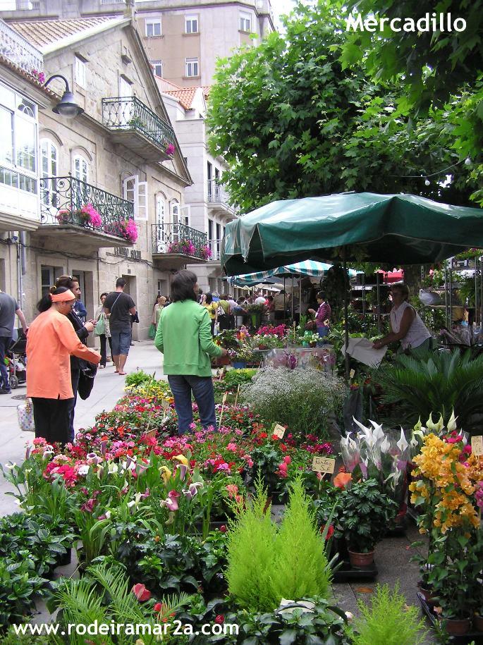 mercadillo plaza de abastos de Cangas