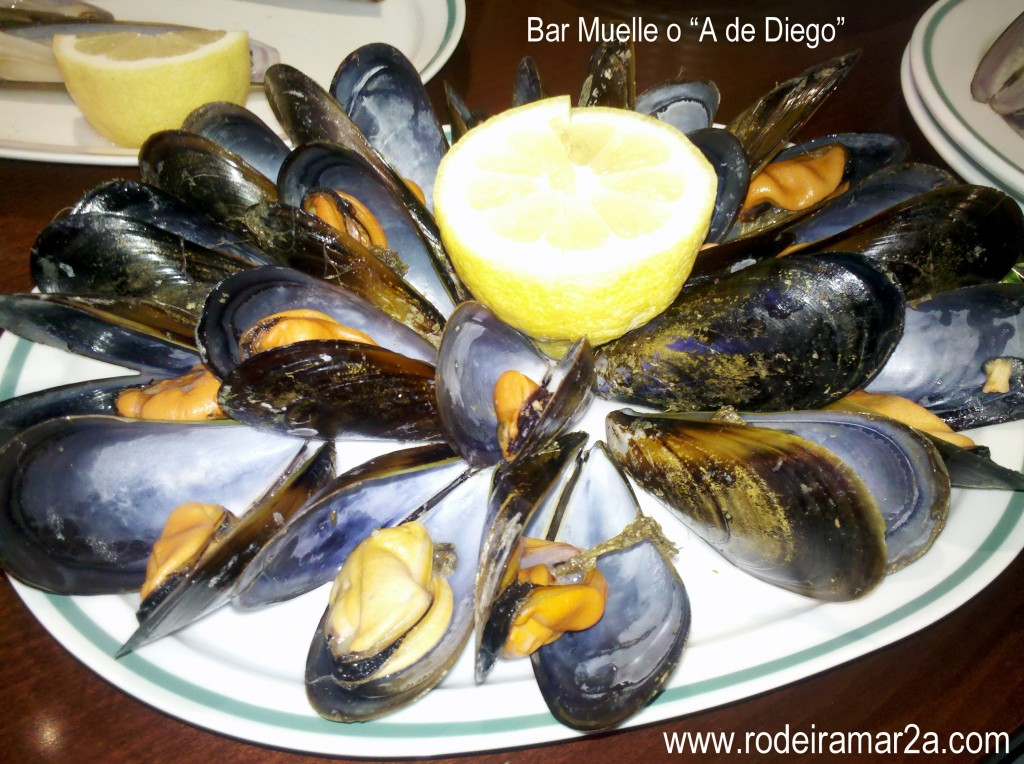 Mejillones gallegos en la de Diego en Aldán