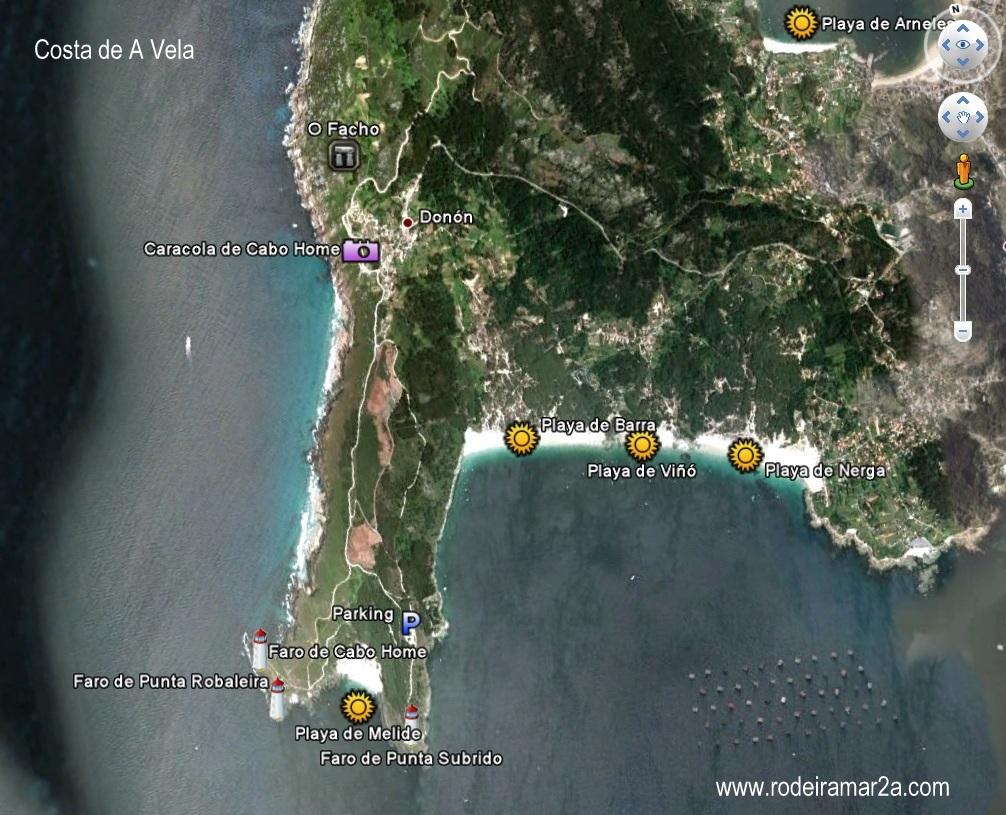 Cabo Home, playas de Melide, Barra, Viñó y Nerga