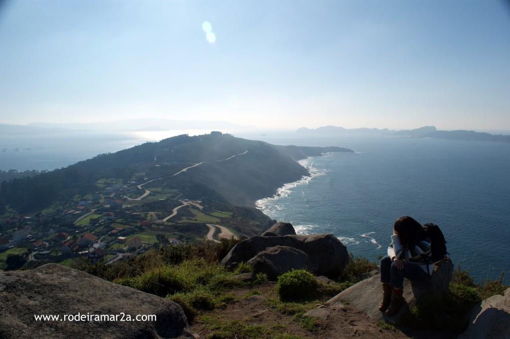 Vistas de Cabo Home y las Islas Cies desde el Facho
