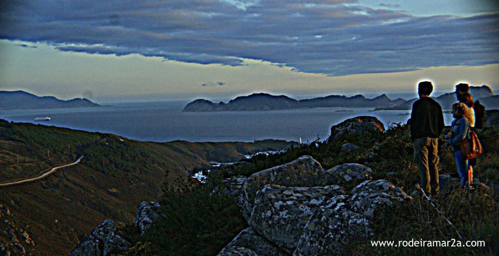 Vistas de las Islas Cies desde O Facho, Cangas
