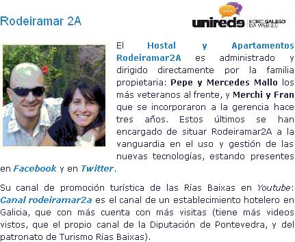 Foro Unirede Presentacion de Rodeiramar 2A como ponentes en el Foro Unirede