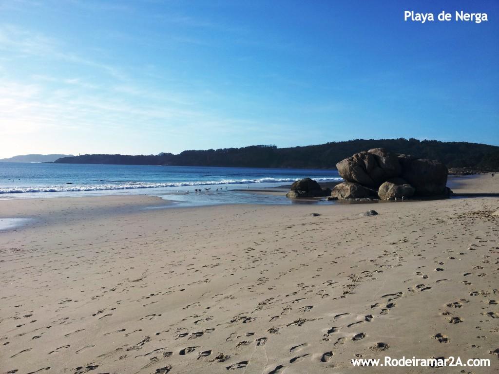 Playa de Nerga, playas de Cangas. Playas de las Rias Baixas