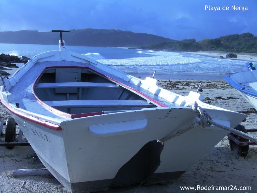 La Playa de Nerga y sus típicas Embarcaciones tradicionales. Cangas de Morrazo