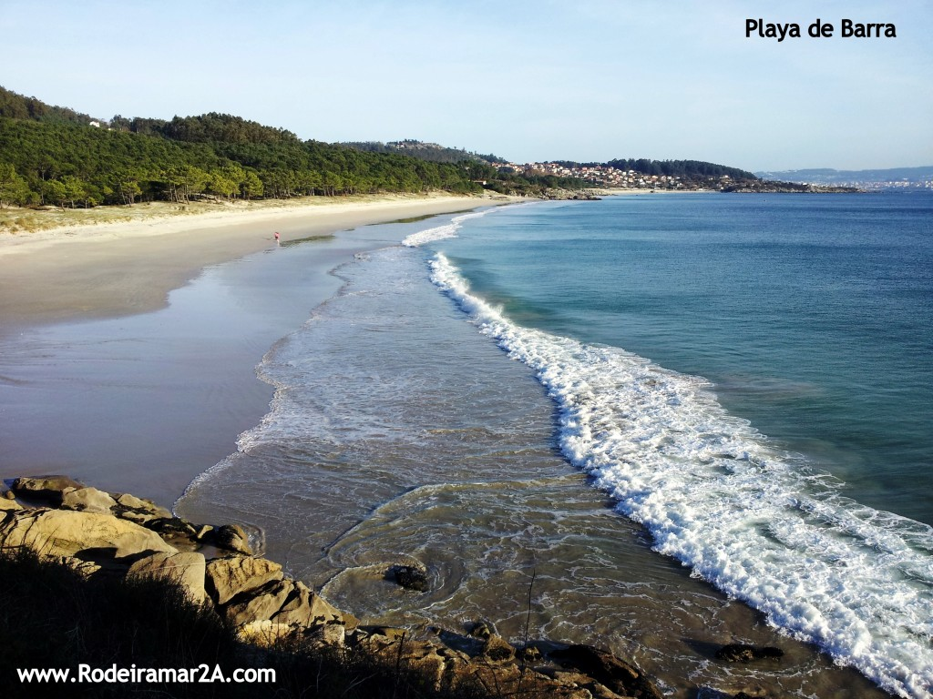 Playa de Barra. Playas de Cangas de Morrazo. Rias Baixas, con las playas de nerga y la playa de viñó