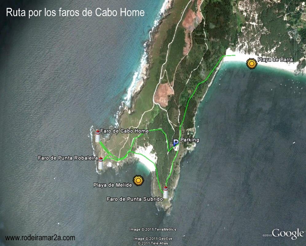 Ruta por los faros de Cabo Home, Playa de Melide y Playa de Barra