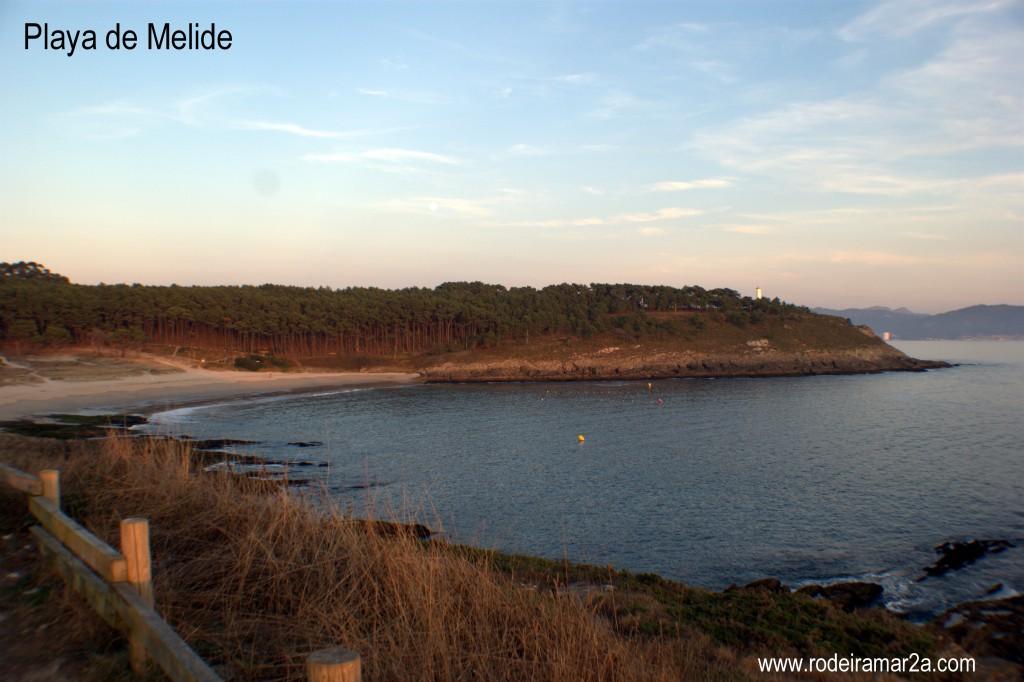 Playa de Melide. La playa de Cabo Home.