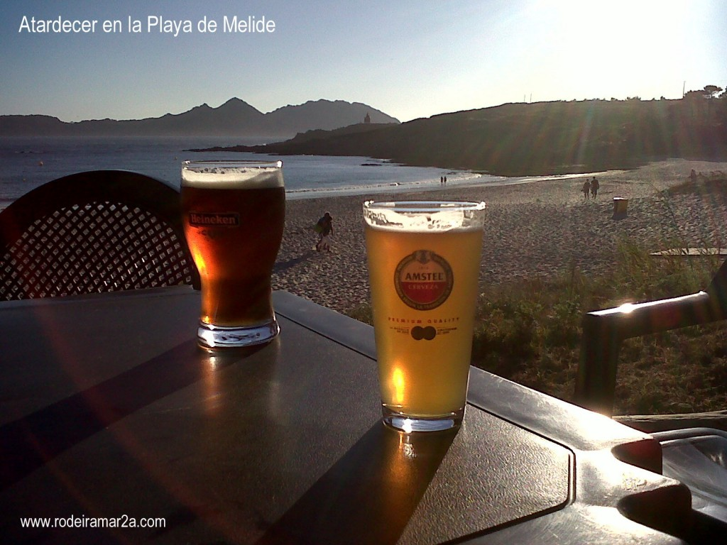 atardecer en melide1 1024x768 - La Playa de Melide; La Playa Salvaje,entre los Faros de Cabo Home.