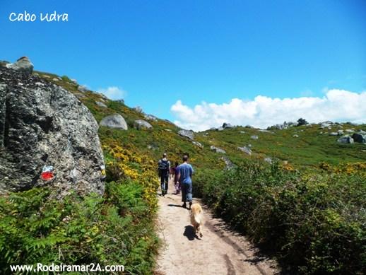 Rutas de senderismo por Cabo Udra, Bueu.