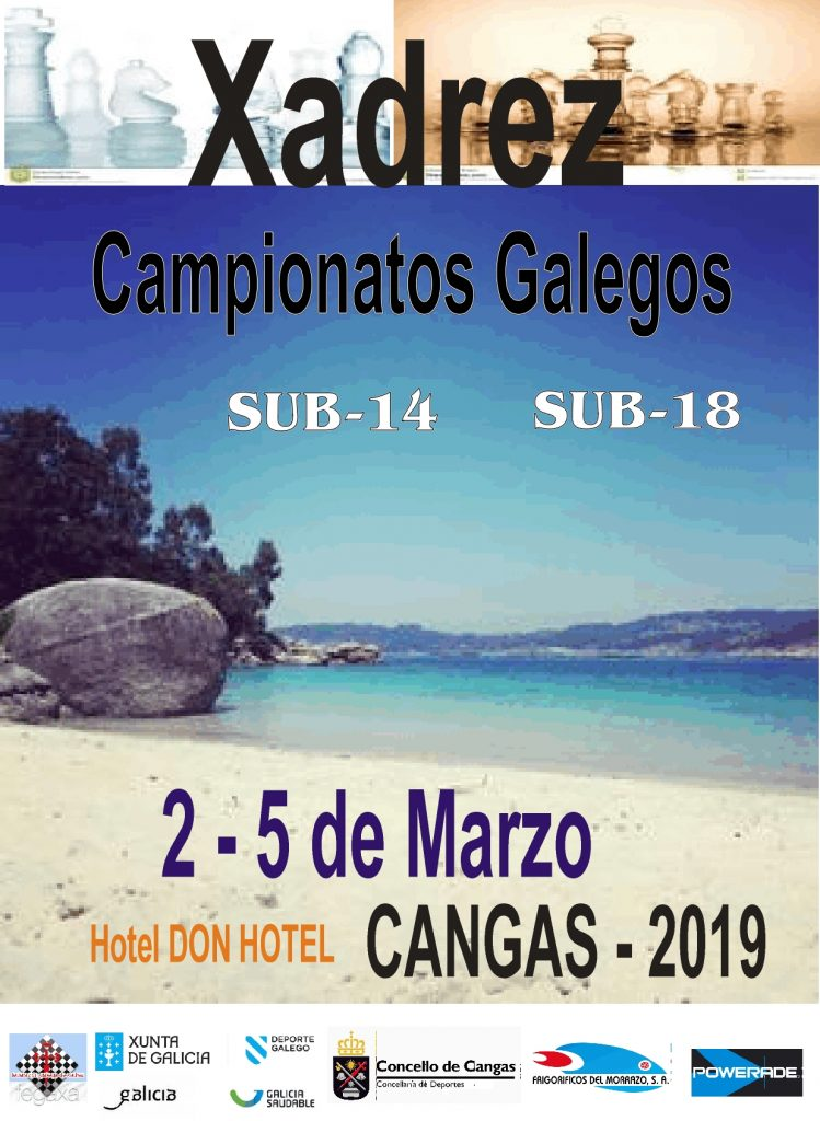 Cartel Campeonato Gallego ajedrez Carnavais2019 cangas 749x1024 - Campionato Galego de Xadrez Entroido 2019 (Sub-14,Sub-18)